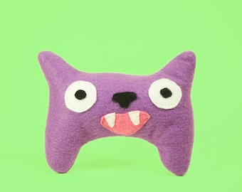 Purple the Pointy Smile Monster Stuffed Animal