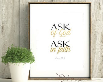 Ask Of God, Young Women Theme 2017, LDS Home Decor, Instant Download, Digital Printable, Home Decor Print, LDS Gift, Young Women Gift
