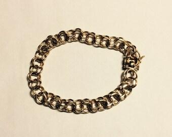 7.5 inch gold filled vintage charm bracelet # 157