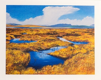 The Flow Country of Caithness and Sutherland card - pack of greetings cards