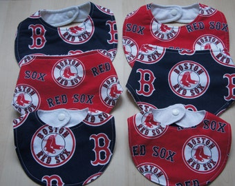 Boston Red Sox Baby Bib-Boston Red Sox Baby Bandana Bib-Boston Red Sox Baby Gift MLB  Baseball Theme Baby Bib Drool Red Sox Baseball Team