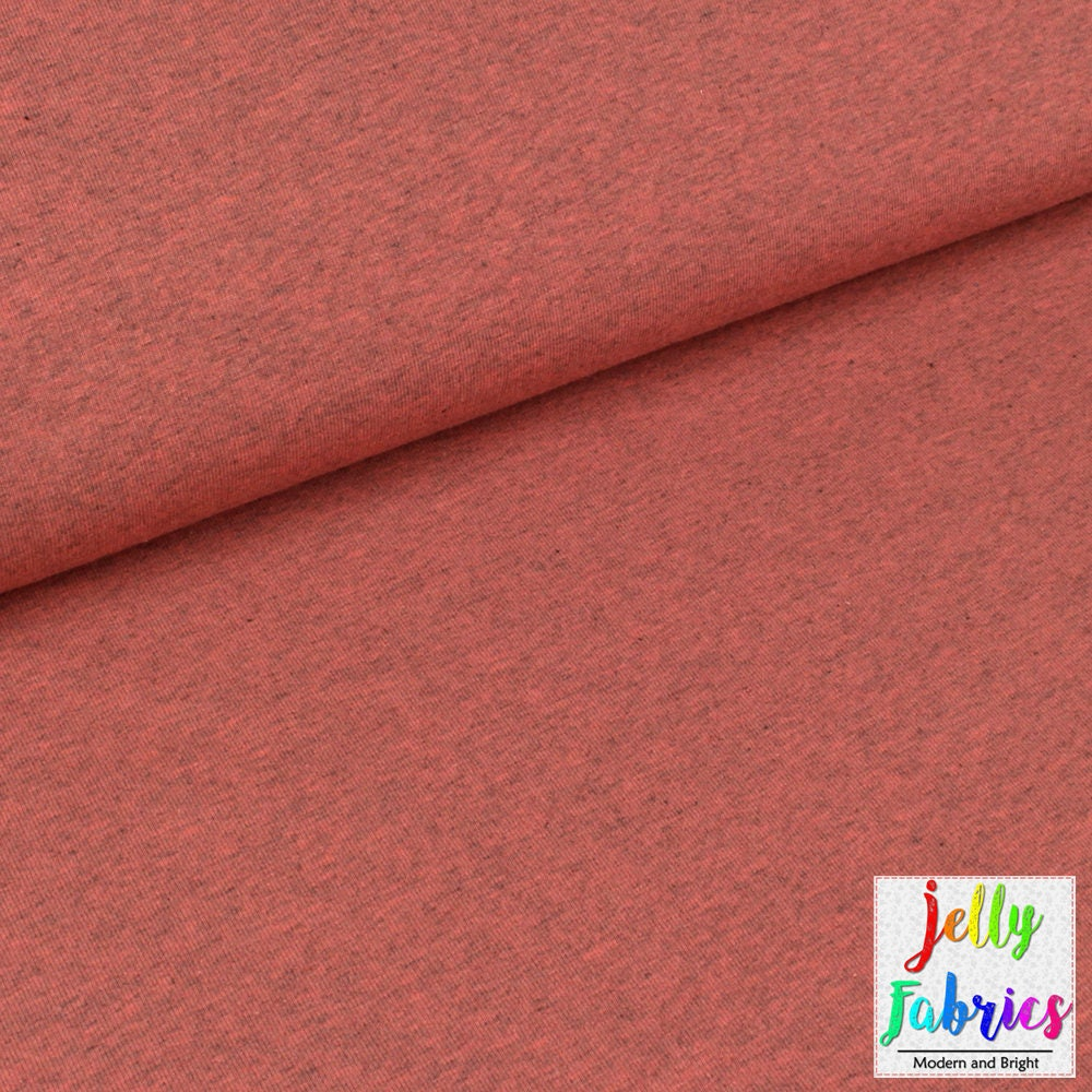 Organic jersey fabric solid pink melange uk seller for Children s jersey fabric uk