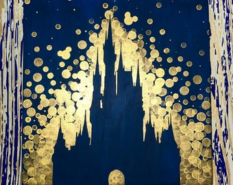 Disney World Castle inspired painting//Disney//Disney Castle//Disneyland