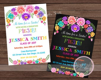 Graduation Party Invitation, Fiesta Graduation Party Invitation, Graduation Mexican Fiesta Invitation, Fiesta Invitation, Digital File