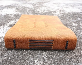 Wedding Guest Book Personalized Leather Journal leather guest book custom leather notebook
