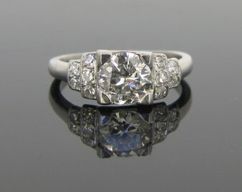 French Art Deco diamonds wedding ring, platinum, c.1930