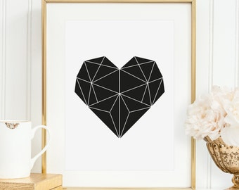 Poster, Print, Wallart, Kunstdruck, Artprint, Illustration: Heart