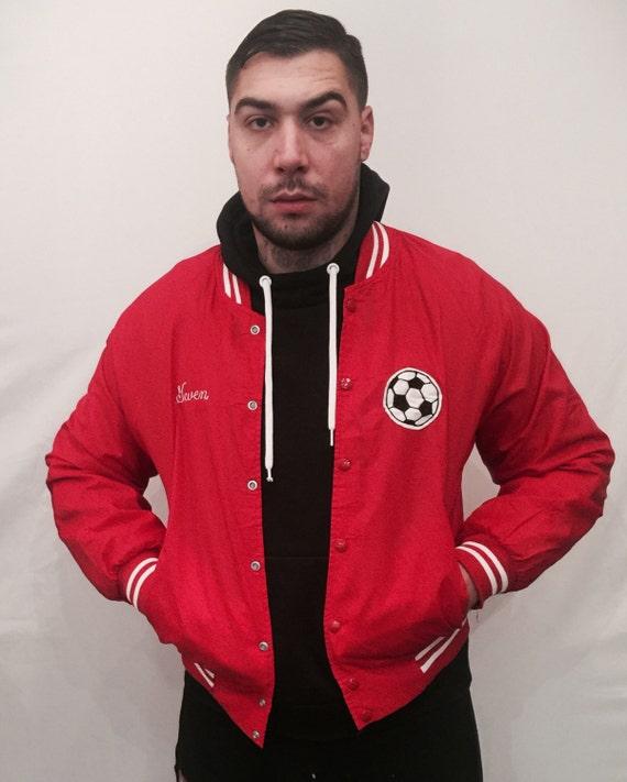 EV 102 red baseball jacket unisex size m