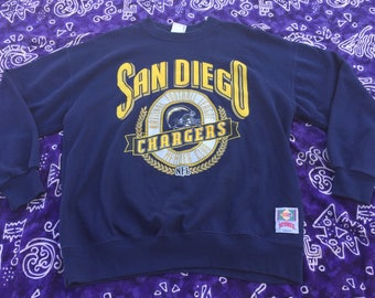1990's, Nutmeg Mills, NFL San Diego Chargers Swearshirt