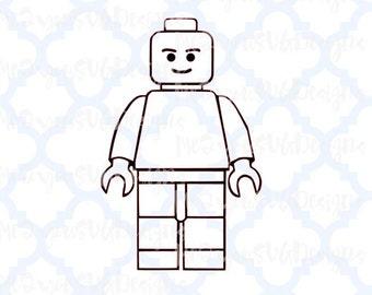 Lego Man Outline SVG,EPS,PNG,Studio