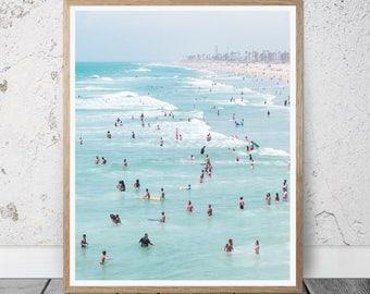 Beach Print, Beach Decor, Sea Wall Art Photo, ocean Printable Art, tropical wall decor, Coastal, Summer Decor, modern art, waves poster