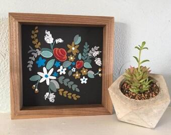 Floral Wood Sign