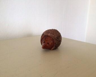 Sweet Small Handmade Ceramic Hedgehog Ornament