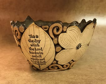 Medium Scripture Dogwood Bowl 46