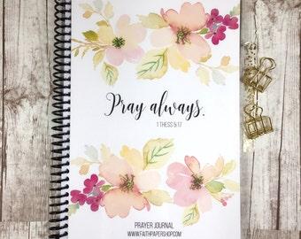 Prayer Journal - Bible Journaling, Gratitude Journal, Bible Study, Illustrated Faith, Prayer Planner, Christian Gifts