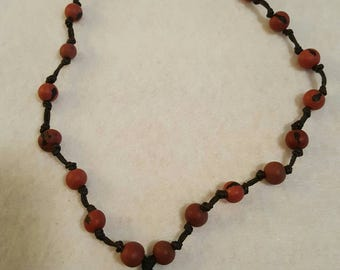 Womens brown and blue necklace