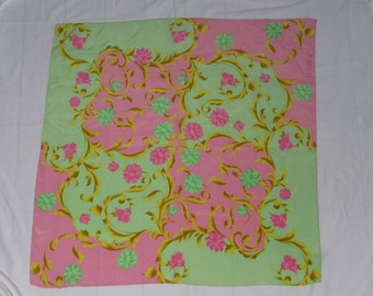 Vintage ESCADA Polished Silk Scarf by Margaretha Ley, Birthday, Christmas, Gift, Gifts for Her, Gifts for Wife