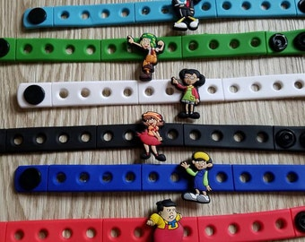 10  El Chavo Silicone Bracelets Party Favors