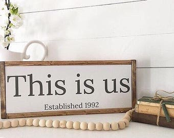 This is us, established, family sign, est sign