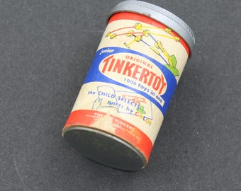 Vintage Miniature Tinker Toy Container