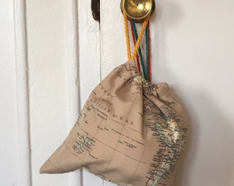 SALE! World map pouch