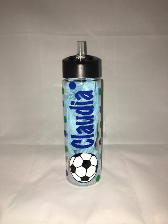 soccer water bottle by stickeramigomuglife on etsy