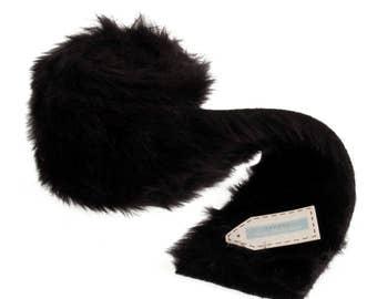 Black Faux Fur Trim - 80mm x 2m