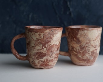 Pair ceramic cup, pottery