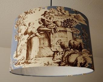 """Ceiling lamp """"Toile de Jouy"""""""