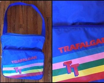 1980's Trafalgar Rainbow Messanger Bag