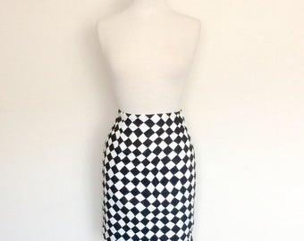 1990s does 60s Checkered Mini Skirt Vintage