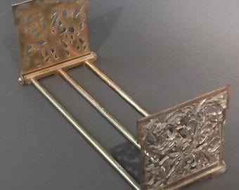 Art Nouveau Expandable Book Holder (brass)