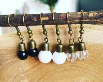 "Earrings ""Set of 3 pairs bulb"""