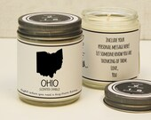 Ohio Scented Candle - Homesick Gift | Miss Home Gift | State Scented Candle | Moving Gift | College Student Gift | State Candles
