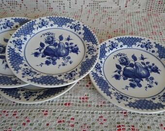 4 OXFORD English porcelain dessert plates. Vintage.