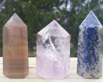 3pc Crystal Set - 125g - Fluorite, Amethyst, Lapis Lazuli