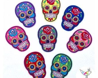 Sugar Skulls Iron on Patches UK