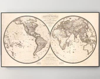 World Map Wall Art, World Map Canvas, World Map Wall, World Map Decor, Map Canvas, Map of World, Canvas Map, Canvas Artwork, 185