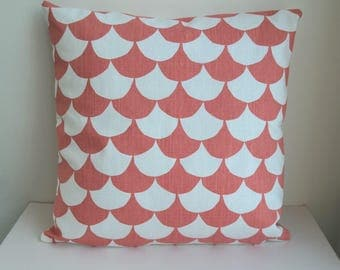 Double-sided 20'' cushion cover WAVES made from Littlephant 100% cotton fabric. Pillow case, for pillow in size 50x50 cm (20''x20')
