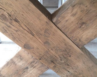 Indestructible dining table of reclaimed wood