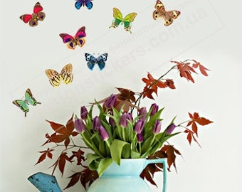 Butterfly Decal, Butterflies, Colorful Butterflies, Butterflies Decal, Butterfly Wall Decal, Butterfly Stickers, Butterfly Vinyl Stickers
