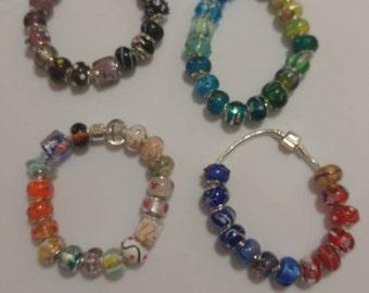 Large Hole European Glass Beads