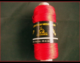 "Ribbon yarn effect yarn rayon ""Vikoband"" red Wolcentrum vintage"