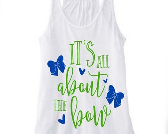 It's All About The Bow-Sip Cup-DIY Iron On Decal-Vinyl Decal-School Colors-Cheerleading-Dance-Coffee Mug-Waterbottle-Cheer Team-Dance-Diva