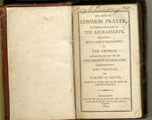 Antique Victorian Miniature Common Prayer Book  1805