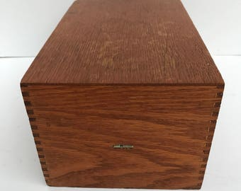 Recipe box, Wood, Dovetailed,