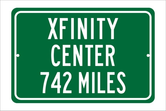 Custom College Highway Distance Sign to Xfinity Center | Home of the University of Maryland Terrapins | Terps Basketball | UMD Terrapins |