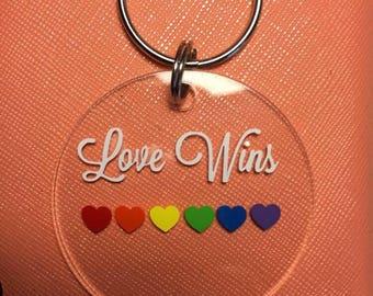 Love wins keychain gender equality keychain