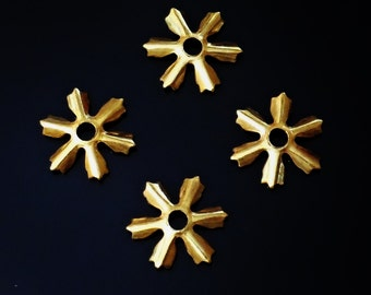 Vintage , 1950s  Brass Stampings, spacer Jewelry Findings, 30 pcs. /zg