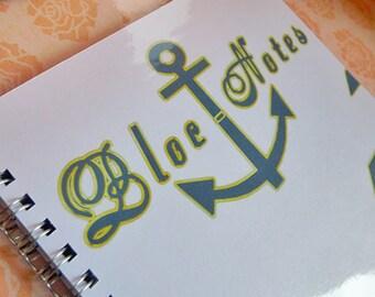 Navy Blue notebook and white spirit